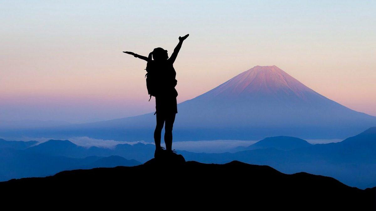 富士山からの下山イメージ