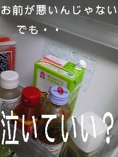 豆乳しかない冷蔵庫